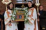 Первое богослужение в с. Никольское