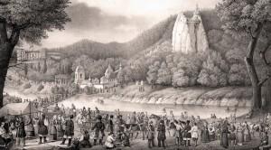 Вид Святогорской пустыни в день ее возобновления 15 августа 1844 г