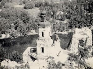 Вид Николаевской церкви после Великой Отечественной войны