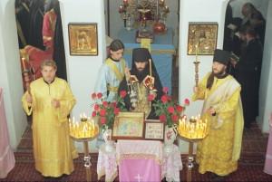 Первая служба в Никольской церкви. 20.05.1996 г.