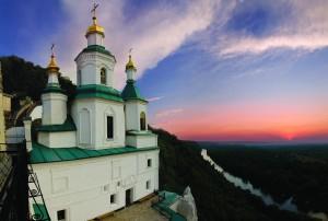 Николаевский храм на закате