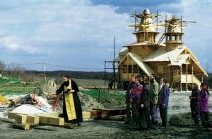 Освящение и установка Поклонного Креста