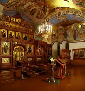 Современный интерьер Покровской церкви