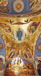Роспись предалтарной части Покровской церкви