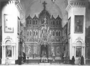 Иконостас Успенского собора. Фото к. XIXв.