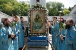 Молебен перед Святогорской иконой на площади