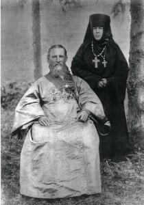 Отец Иоанн Кронштадтский и игуменья Таисия (Леушинская)