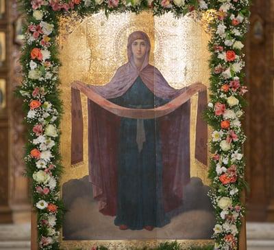 В Святогорской Лавре встретили праздник Покрова Божией Матери