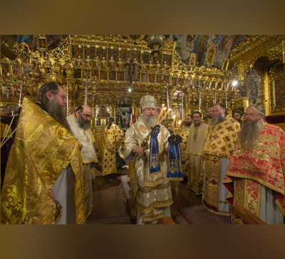 Митрополит Святогорский Арсений возглавил Божественную литургию в Киккском монастыре