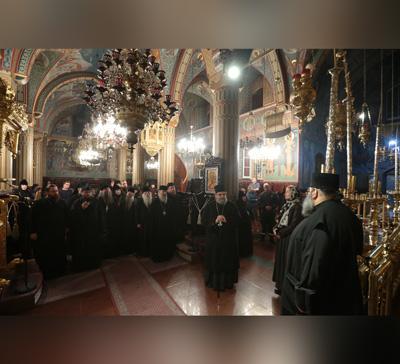 Посещение делегацией РПЦ монастыря Киккской иконы Божией Матери