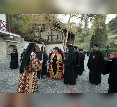Посещение монастыря Махера и Тамасосской митрополии Кипра (видео)