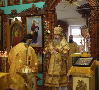 Архиерейское богослужение во Всехсвятском храме г.Святогорска