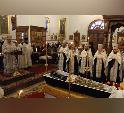 Митрополит Арсений совершил отпевание монаха Трифона (Дахневича)