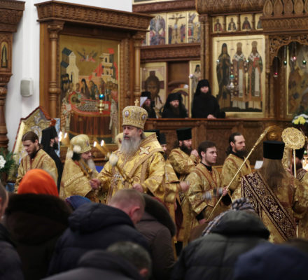 Митрополит Арсений возглавил богослужение в Святогорской Лавре в Неделю 29-ю по Пятидесятнице