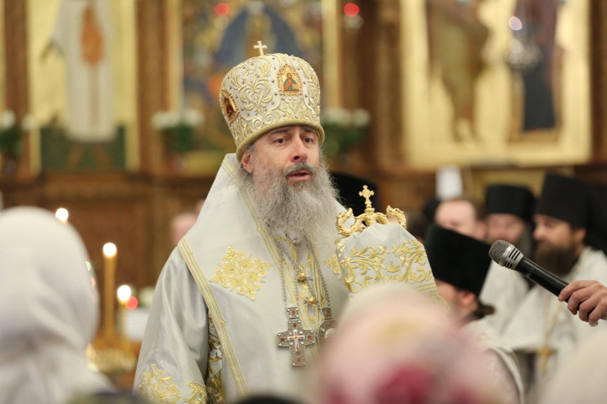 Слово митр. Арсения на Рождество Христово и колядки братского хора