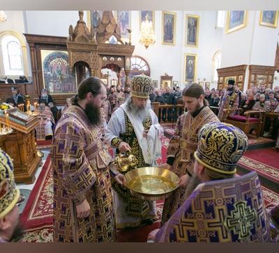 Чин умовения ног и слово митрополита Арсения в Великий Четверток (видео)