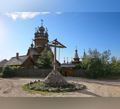 Второй престольный праздник скита в честь Всех святых (фото,видео)