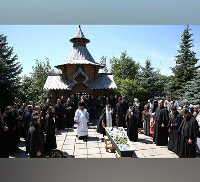 В Святогорской Лавре простились со схимонахом Селафиилом (фото)