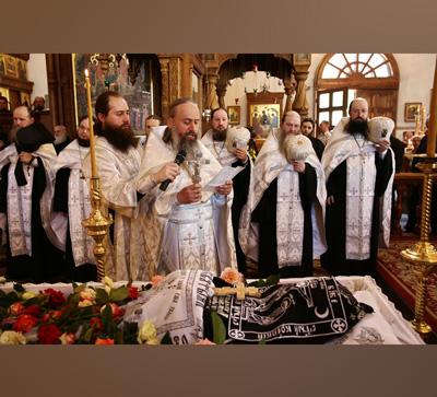Погребение схимонаха Селафиила (видео)