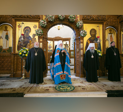 Визит митрополита Агафангела в Святогорскую Лавру (видео)