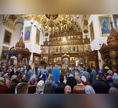 Богослужения накануне праздника Покрова Божией Матери (фото,видео)