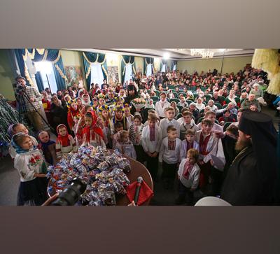 Приём колядников митрополитом Арсением на Рождество Христово (видео)