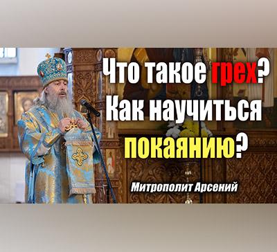 Что такое грех? Как научиться покаянию? Проповедь митрополита Арсения вНеделю омытаре и фарисее (видео)