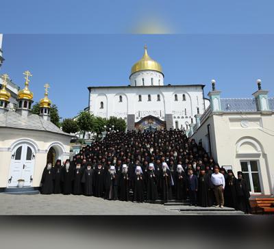 Наместник Святогорской Лавры принял участие вСъезде монашествующих, состоявшемся вПочаевской Лавре (фото, видео)