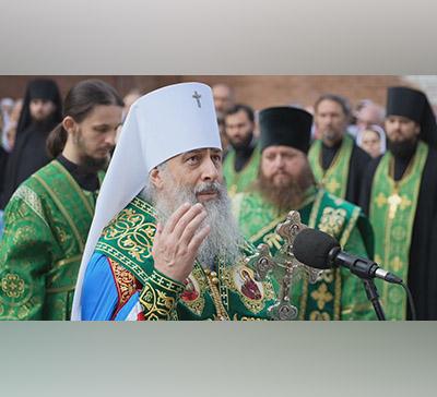 Слово митрополита Арсения после молебна преподобному Иоанну Затворнику (видео)